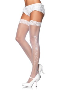 Sheer Lace Top Stockings from www.buystockins.com.au